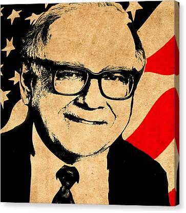 Warren Buffett Canvas Print by Andrew Fare