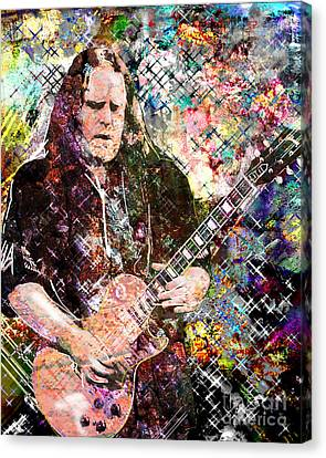 Warren Haynes Govt Mule Original Painting Art Print Canvas Print by Ryan Rock Artist