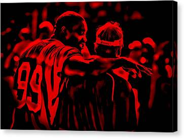 Warren Sapp And Jon Gruden Canvas Print
