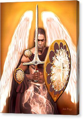 Warrior Angel Canvas Print by Jennifer Page