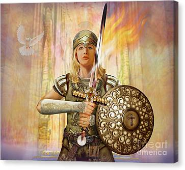 Warrior Bride - The Anointed Canvas Print