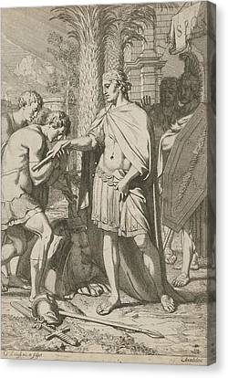 Warrior Donates Defeated Warriors Grace, Gerard De Lairesse Canvas Print