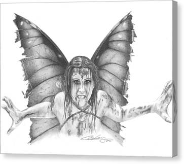 Warrior Fairy Canvas Print by Carolee Conway