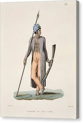 Warrior From The Island Of Guebe Canvas Print