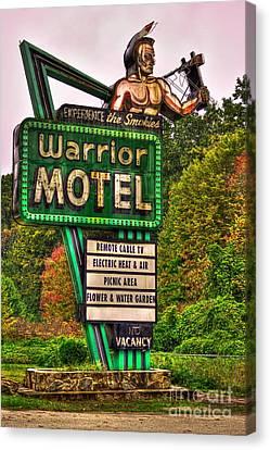 Warrior Motel Great Smokey Mountains Canvas Print by Reid Callaway