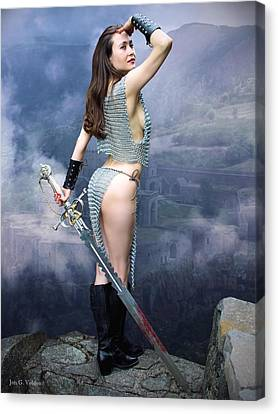 Warrior Ruins Canvas Print