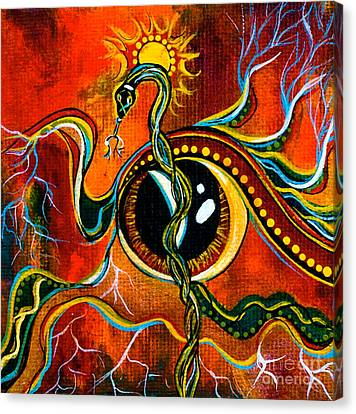 Warrior Spirit Eye Canvas Print