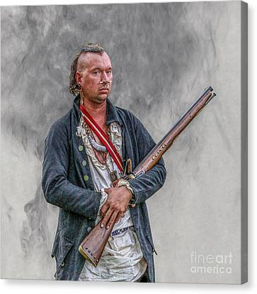 Warrior With Musket Portrait Canvas Print