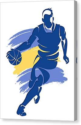 Warriors Basketball Player6 Canvas Print by Joe Hamilton