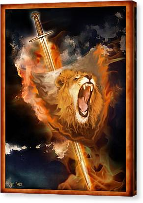 Warrior's Heart Canvas Print by Jennifer Page