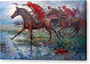 Warriors In Return Canvas Print by Prosper Akeni