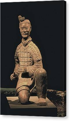 Warriors Of Xian. Archer. 221 -206 Bc Canvas Print by Everett