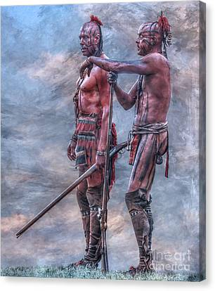French And Indian War Canvas Print - Warriors by Randy Steele