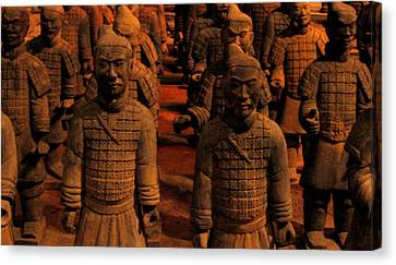 Canvas Print featuring the photograph Warriors Terra Cotta by Patricia Januszkiewicz