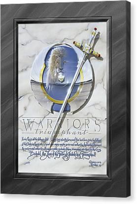 Warriors Triumphant With Faux Matte Canvas Print