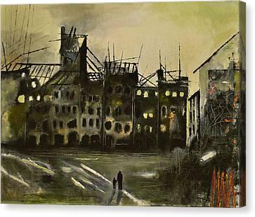 Warsaw 1945 Canvas Print by Maja Sokolowska