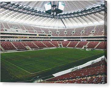 Warsaw Stadion Canvas Print by Pati Photography