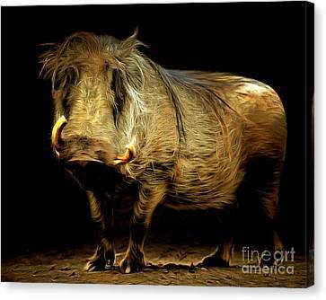 Warthog 20150210brun Canvas Print