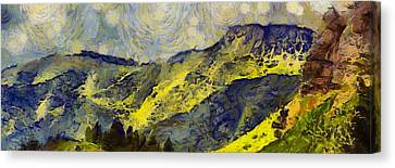 Southern Utah Canvas Print - Wasatch Range Spring Colors by Dan Sproul