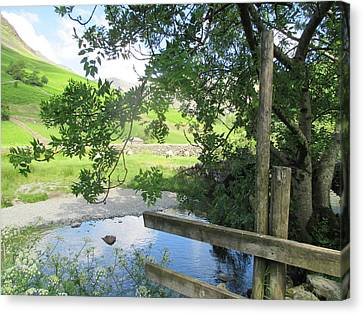 Canvas Print - Wasdale Head Stile by Kathy Spall