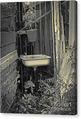 Canvas Print featuring the pyrography Wash Basin by Evgeniy Lankin