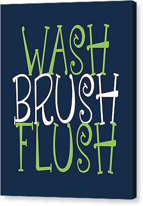 Alligator Canvas Print - Wash Brush Flush Alligator by Tamara Robinson