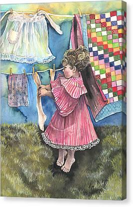 Wash Day Canvas Print by Kim Whitton