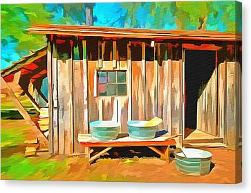 Wash Day Canvas Print by L Wright