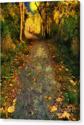 Washed In Gold Canvas Print by RC deWinter