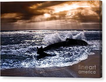 Washed Out To Sea - Outer Banks Canvas Print by Dan Carmichael