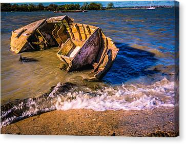 Washed Up Canvas Print by Dawn OConnor