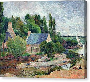 Washerwomen At Pont-aven, 1886 Oil On Canvas Canvas Print