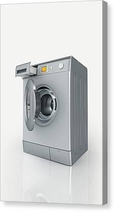 Washing Machine Canvas Print - Washing Machine by Dorling Kindersley/uig