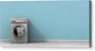Washing Machine Empty Single Canvas Print by Allan Swart