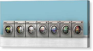 Washing Machine Full Single Canvas Print by Allan Swart