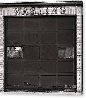 Panel Door Canvas Print - Washing  by Olivier Le Queinec