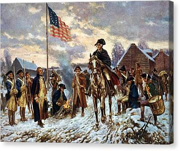 Washington At Valley Forge Canvas Print