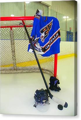 Washington Capitals Blue Away Hockey Jersey Canvas Print