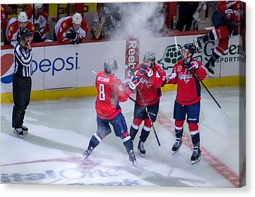 Washington Capitals Victory  Canvas Print
