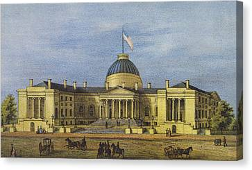 Washington City Hall Circa 1866 Canvas Print by Aged Pixel