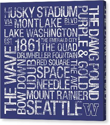 Washington College Colors Subway Art Canvas Print