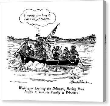 Washington Crossing The Delaware Canvas Print by J.B. Handelsman