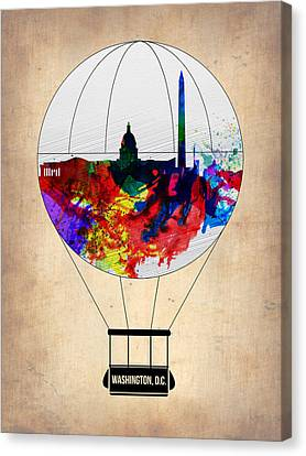 Washington D.c. Air Balloon Canvas Print by Naxart Studio