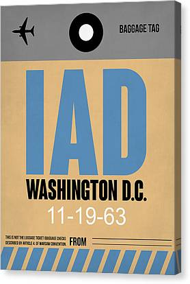 Washington D.c. Airport Poster 3 Canvas Print by Naxart Studio