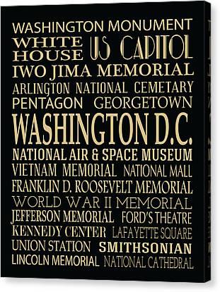 Washington D.c. Attractions Canvas Print by Jaime Friedman