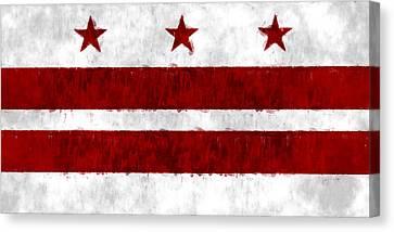 Washington D.c. Flag Canvas Print by World Art Prints And Designs