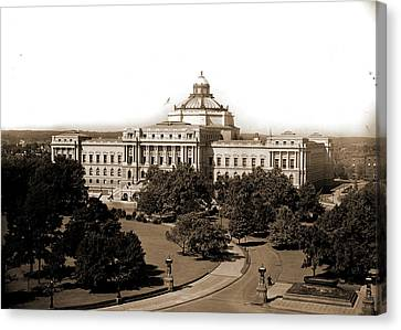 Washington, D.c, Library Of Congress, Library Of Congress Canvas Print by Litz Collection