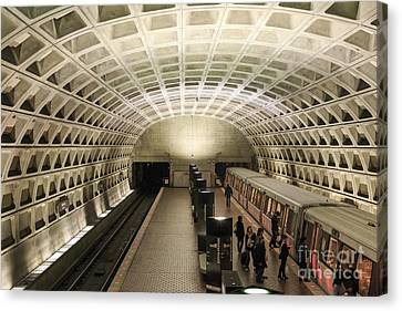 Washington Dc Metro Interior Canvas Print