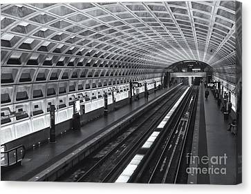 Washington Dc Metro Station I Canvas Print by Clarence Holmes