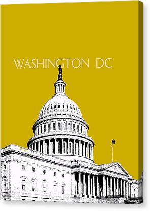 Senate Canvas Print - Washington Dc Skyline The Capital Building - Gold by DB Artist